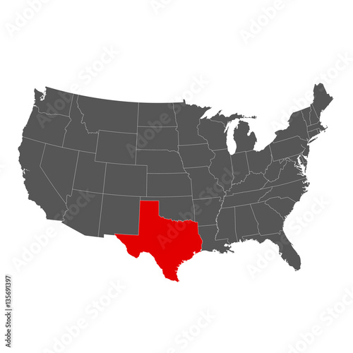 United States of America with Texas Highlighted Map - Buy ...