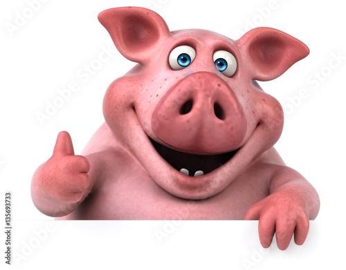 Fotografie, Obraz  Fun pig - 3D Illustration