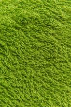 Close Up Green Fleece Texture. Background