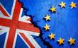 canvas print picture - Brexit-Motiv auf Steinwand