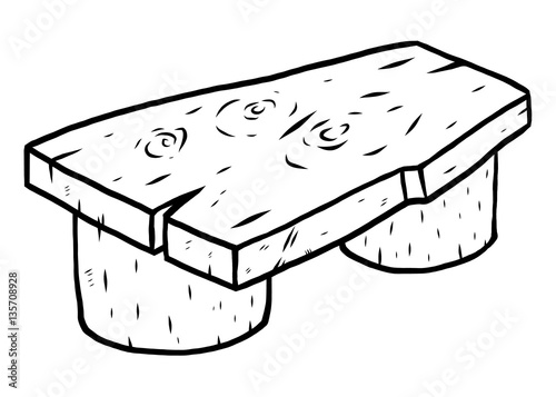 Admirable Wooden Bench Cartoon Vector And Illustration Black And Squirreltailoven Fun Painted Chair Ideas Images Squirreltailovenorg