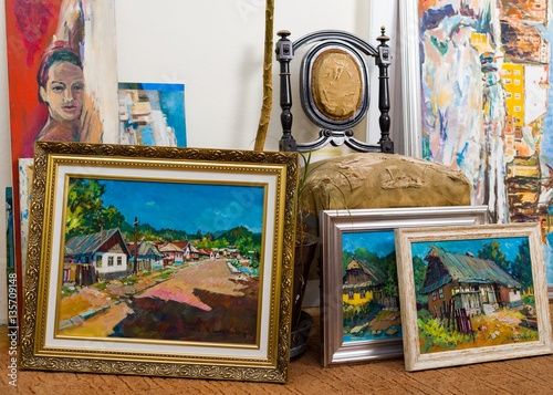 Fotografie, Obraz  Valuable paintings collection