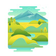 Vector illustration in trendy flat and linear style