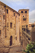 Inside of old medieval city Caceres