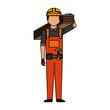 Construction professional avatar character vector illustration design