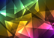 rainbow crystal abstract background, diamond business template, facet technology background, vector illustration