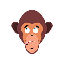 Monkey Surprised Emoji. Marmos...