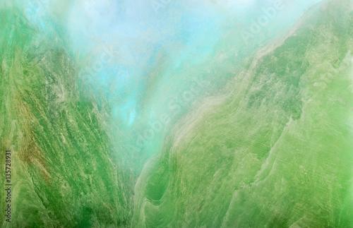 Türaufkleber Makrofotografie charoite stone bright green macro