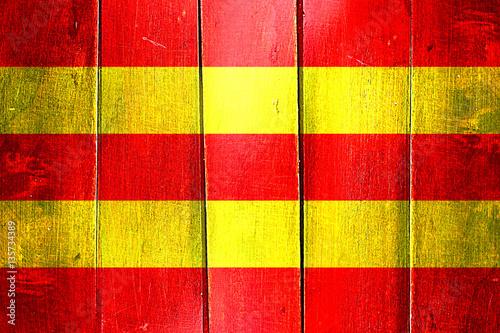 Poster Antwerp Vintage Aust agder flag on grunge wooden panel