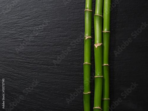 trzy-galezie-bambusa-na-czarnym-tle