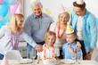 Birthday party in big happy family