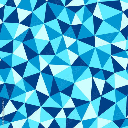 Photo Low poly seamless abstract vector pattern