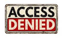 Access Denied Vintage Metallic...