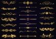 Vector set gold vintage decorative elements for design
