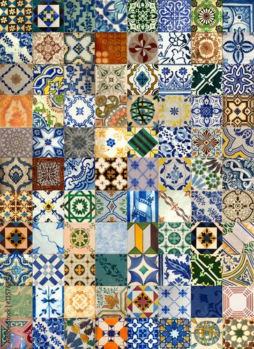 kolaz-ceramicznych-plytek-z-portugalii