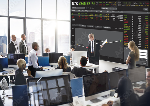 Fotomural Stock Exchange Trading Forex Finance Graphic Concept