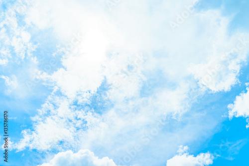 Aluminium Prints Heaven white cloud on blue sky