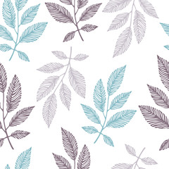 FototapetaSeamless pattern with hand drawn branches.