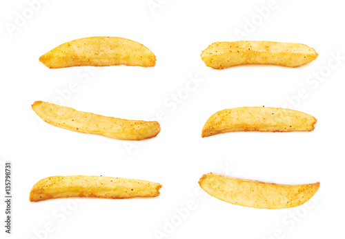 Tablou Canvas French fried potato slice isolated