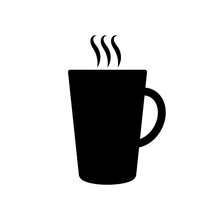Black Coffee Cup Icon