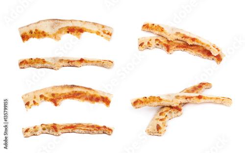 Fotografiet Pizza crust isolated