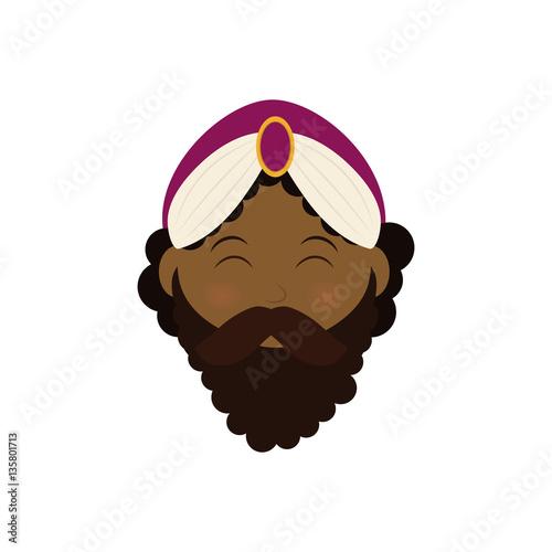 Photo Three wise man cartoon icon vector illustration graphic design