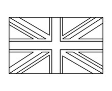 Uk Flag, England Symbol Outlin...