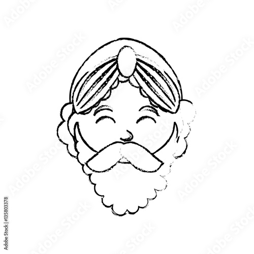 Three wise man cartoon icon vector illustration graphic design Wallpaper Mural