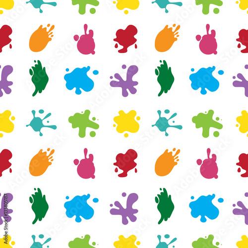 Tuinposter Vormen paint splashes seamless color pattern