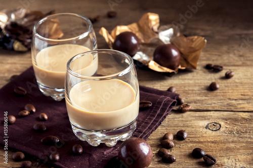 Fotografie, Obraz  Irish cream coffee liqueur