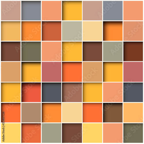 Fototapeta mozaika z kolorowych kwadratów