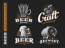 Set Beer Logo - Vector Illustr...