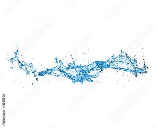 water splash isolated on white background Fototapete