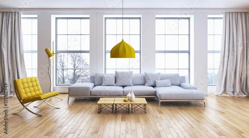 Obraz Modern living room - fototapety do salonu