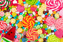 Colorful Lollipops And Differe...