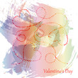 Template of Valentine's day poster, icon, Valentine's day greeting card, Valentine's day print, vector colorful background.