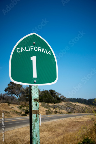 California State Route 1 Sign In Big Sur Buy This Stock