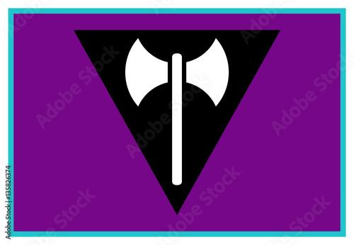 Fotografía  Lesbian Labrys Pride Flag