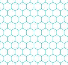 Seamless Pattern Honeycomb Hexagon Shapes