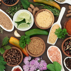 Fototapeta Culinary Herb and Spice Selection