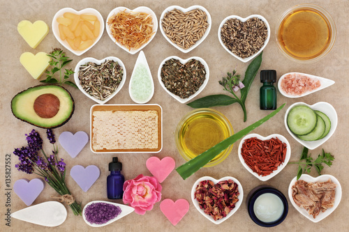 Fotografía  Ingredients for Skin and Body Care