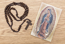 Virgin Of Guadalupe And Rosary
