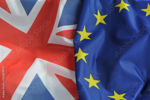 Grossbritannien, Europa, Brexit, Flaggen, Fahnen, Austritt, Großbritannien, Brit Fototapete