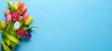 Fototapeta Tulips - Spring tulip flower