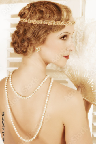 Fotografie, Tablou Retro twenties hairstyle