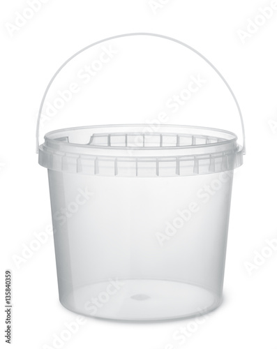 Clear plastic food bucket Wall mural