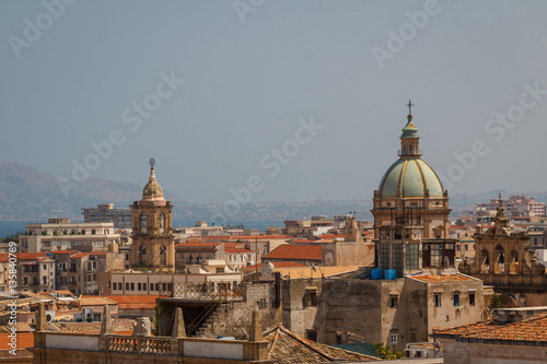 In de dag Madrid A view over Palermo from the roof of the Cathedral, Sicily, Ital