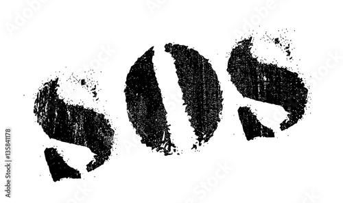Vászonkép Sos stamp