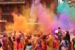 Leinwanddruck Bild - Holi Fest