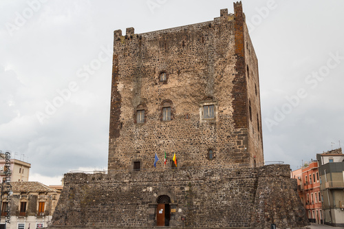 Fotografering  Medieval Norman castle in the historic centre of Adrano, Sicily